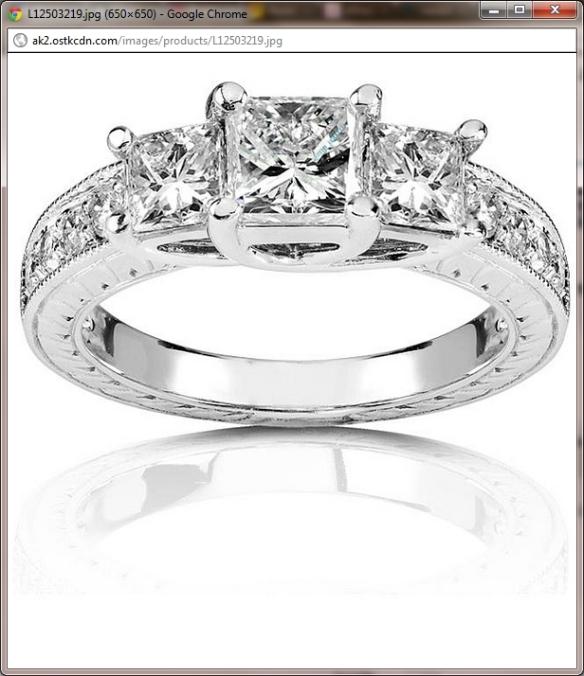 14k Gold 1 1/3ct TDW Princess 3-stone Diamond Ring (H-I, I1-I2)